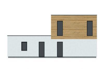 Dřevostavba s plochou střechou