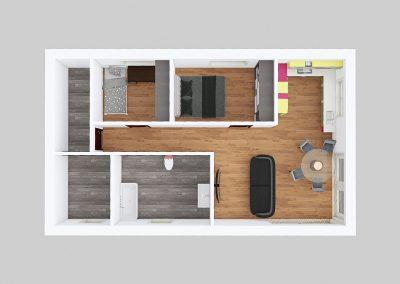 Dřevostavba bungalov 3kk